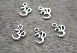 2019 om pendentes 60 pçs / lote OM encantos 10.5x16mm tom de prata Ohm Colar Pingente de Yoga Zen om pendentes barato