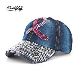 Diamante de diamantes de imitación Ocio jean Hat punto taladro tapa mujer  Denim gorra de béisbol snapback Sombrero moda sol algodón casquette b141  rebajas ... 6266dd1f39d