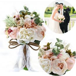 Wholesale Wedding Bouquet Bridesmaid - Artificial Wedding Flower Bridal Props Bouquets Bridesmaids Holding Flowers Handmade Wedding Supplies
