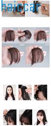 Extensions de cheveux incroyables en Ligne-Incroyable Jolies Filles Clip Sur Clip Avant Cheveux Frange Frange Extension de Cheveux Mince Synthétique New Ju 6