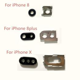 couverture arrière iphone original Promotion Original Nouveau Retour Caméra Oculaire En Verre Couvercle Remplacement Cadre Pour iPhone 8 8G 8 P 8 Plus X