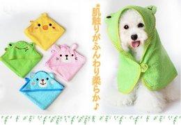 Wholesale Super 55 - Super Soft 100% Cotton Cute Cartoon Pet Dog Towel toalla para perro pet grooming tool dog bathrobe 55*55cm