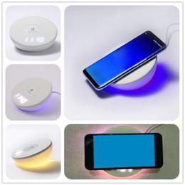 сенсорная панель samsung Скидка 2018 Новое зарядное устройство QI для iPhone X 8 8plus Touch Clap Lamp Беспроводное зарядное устройство для Samsung S8 S8 plus S7