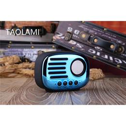 Falantes de envio on-line-Os recém-chegados Mini Speaker Bluetooth portátil galvanizado Retro Speaker sem fio Bluetooth estéreo V4.2 SoundBox Drop Shipping atacado