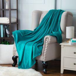Wholesale Korean Bedspreads - Wholesale-Naturelife Soft Blanket fleece White Blanket Plaids Bedspreads throw for Bed travel blankets sofa plane travel Warm Cobertor