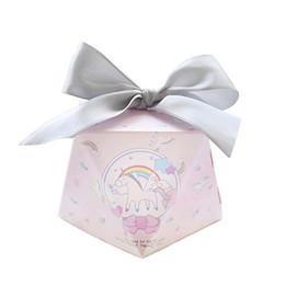 Wholesale Diamond Supply Box - Pink Unicorn Diamond Wedding Favors Candy Boxes Party Gift Box Bomboniera Giveaways Box Return Present Box QW7089