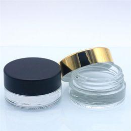 Luxury Small Glass Cosmetic Cream Jar Tarro recto 5G 5ML Crema de ojos Crema de vidrio, Pequeño recipiente de vela de cera con tapa de aluminio desde fabricantes