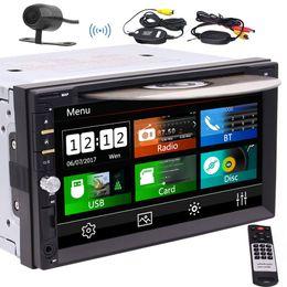 2019 reproductor de mp3 hyundai tucson EinCar Double Din Car Stereo, 7''Touch Radio Radio Media Car DVD Reproductor de CD compatible con Bluetooth / Cámara trasera / Volante / USB / TF / FM AM