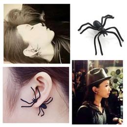 Canada Halloween Black Spider boucles d'oreilles pour femmes filles enfants Punk Hyperbole Animal Mini Stud Boucles D'oreilles Bijoux De Mode LA729 supplier earrings for kids studs Offre