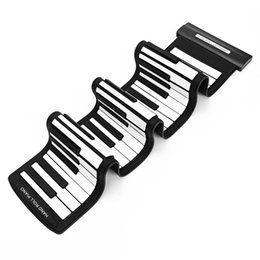 Wholesale Roll Up Keyboards - Silicone Flexible Portable USB 61 Keys MIDI Roll up Electronic Piano Keyboard For Piano Musical Instruments Lover Gift