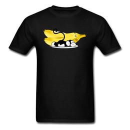 Deutschland Banana Dreams Tops Männer Affe T Shirt Print T Shirt Baumwollgewebe Tshirts Casual Sommer Cartoon Kleidung Lustige Tees Schwarz cheap dream fabrics Versorgung