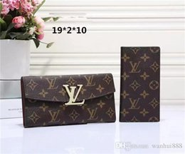 Wholesale Purse Clutch Boxes - 2018 Free shipping Wholesale lady multicolor coin purse long wallet colourfull Card holder original box women classic zipper pocket 60138