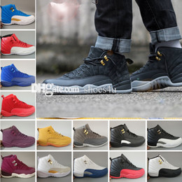 Wholesale Mens Army Boots - 2018 air 12 Mens Basketball Shoes 12 12s TAXI Playoff BLAck Flu Game Cherry 12s XII Men Sneakers boots Free Shipping