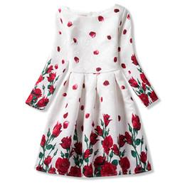 Canada Automne Ados Fille Robes Pour Enfant Fleur À Manches Longues Robes Habillées Fille Adolescente Robe De Soirée Robe Infantil 10 11 12 Ans Y1891409 cheap flower dresses for teenagers Offre