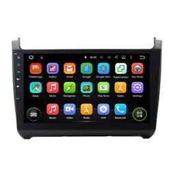 Wholesale double din dvd for car - Car Radio Octa Core 4GB RAM 32GB ROM Android 7.1.1 Double 2 din 10.1'' touch screen Multimedia Car DVD GPS Player For Volkswagen Polo 2015
