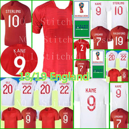 Wholesale Man Uniforms - England 2018 world cup Soccer Jersey 18 19 England home #9 KANE #10 DELE #7 STERLING shirt #22 RASHFORD #11 VARDY Football uniforms sales