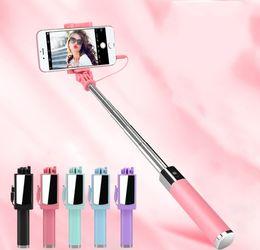 plastik-selbststöcke Rabatt Universal Selfie Stick für iPhone 5S SE 5C 6 6S Plus Einbeinstativ verkabelt Mini Sport Selfie Stick für IOS Androic Perche Selfi Stick LLFA
