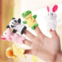 juguete de tela para niños Rebajas Venta caliente 10 UNIDS Familia Marionetas de Dedo Paño Muñeca Bebé Mano Educativa Temprana Mini Animal de Juguete de Felpa Conjuntos Lindo Niño Marioneta juguetes