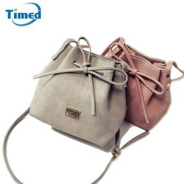 Wholesale Drawstring Bag Trend - Women Bags 2017 New Spring Summer Bow Drawstring Bucket Bags Small Cross Body Bag Fashion Trend Brief Shoulder Bag For Lady