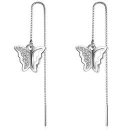 Araña de cristal swarovski online-EH167 Pendientes chapados en oro rosa Pendientes de Swarovski Amatista Pendiente de cristal Pendientes de moda Cuelgan Diseñador de lujo Pendiente Diseñador Joya