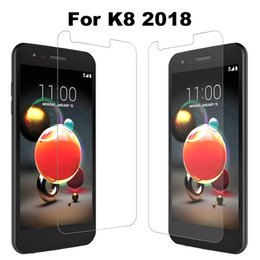 Wholesale screen protector for alcatel - Screen Protector For Lg Fortune 2 Risio 3 K8 2018 Cricket Carrier Alcatel Idol 4 5 IPhone 8 Plus Tempered Glass