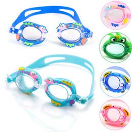 Goldene schutzbrille online-Kinder Schwimmbrille Anti Fog Cartoon Modelle Schwimmen Glassess Tauchbrille Schwimmen Brillen Silikon Einstellbar Schwimmen Zubehör
