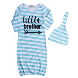Wholesale sleep blankets for infants - Auttum Warm Cotton Cute Baby Boy Girl Long Sleeve Sleeping Bags NewBorn Infant Baby Striped Wrap Blanket Sleeping Bag For 0-24M