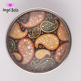 Wholesale Snap Ring Jewelry Making - Angel bola glass Snap button Jewelry Charm Popper for Snap Jewelry good quality 50pcs  lot jewelry making