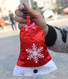 колокольчики Скидка Роман небольшие рождественские сумки легко носить с собой складной мешок тотализатор шляпа колокола перчатки носок сумка маленький 2 9bx cc