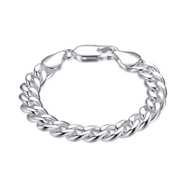 sterling slide bracelet Coupons - 10M side chain - shrimp buckle - male sterling silver plated bracelet ; New arrival fashion men and women 925 silver bracelet SPB151