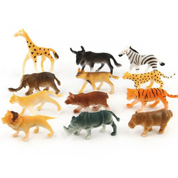 Wholesale Toy Forest - Mini Animal World Model Doll Toy 12 Sections Forest Animals Modeling Baby Dolls Static State Decoration 5 8xd W