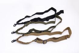2019 écharpes Randonnée Camping En Plein Air Gadgets Tactique 1 Un Seul Point Réglable Bungee Fusil Gun Sling System Strap promotion écharpes