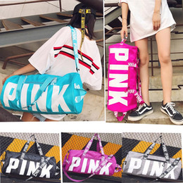 Wholesale Rugby Fitness - Pink Style Boy&Girl Handbags Travel Beach Bag Duffle Shoulder Bags Large Capacity Waterproof Fitness Yoga Bags SF-Express DHL FEDEX UPS Ship
