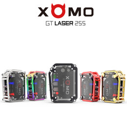 Wholesale Gt Box - Autnentic XOMO GT LASER 255 BOX MOD Built In 3500mAh Battery VV VW 150W Mods With LASER Flashing Lights