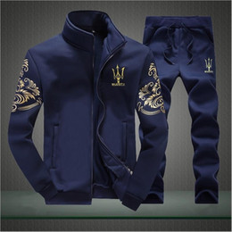 Wholesale Tracksuit Sets Brand - Designer Tracksuit Men Luxury Sweat Suits Autumn Brand Mens Tracksuits Jogger Suits Jacket + Pants Sets Sporting Suit Hip Hop Sweatshirts