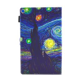 céu de fogo Desconto Flor dos desenhos animados Caso Estojo De Couro Inteligente Bolsa Para Amazon Kindle Fire HD 8 2016 2017 HD 10 2017 HD10 Céu Panda Borboleta Cartões de Capa 60 pcs