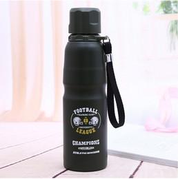 Творческий 500 мл из нержавеющей стали однослойные чашки утечки доказательство бутылки воды портативный спорта на открытом воздухе бутылки от