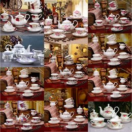Wholesale Porcelain Cup Saucer Set - British Royal Porcelain Europe High-Grade Bone China Coffee Cup 3D Color Enamel Porcelain Saucer Coffee Tea Sets For Friend Gift