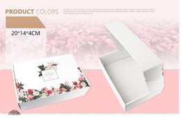 Wholesale Print Cardboard - 10pcs High Quality Cardboard Packaging Box Flowers Printed Carton Packing Box White Gift Packaging Paper Jewelry Craft Boxes