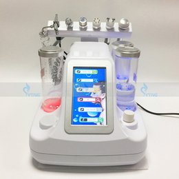 Wholesale Ultrasonic Skin Care Machine - Salon Spa Microdermabrasion Hydrafacial RF Machine For Skin Rejuvenation Water Oxygen Jet Peeling Face Care Ultrasonic Beauty Instrument