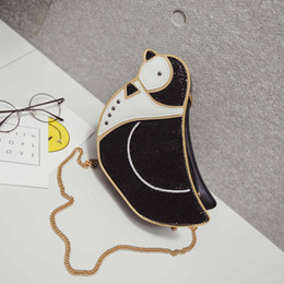 Wholesale cute penguin cartoons - Cute Cartoon Penguin Bags For Women Funny Lovely Animal Shoulder Bag Female Fashion Small Chain Cell Phone Bag Ladys' Party