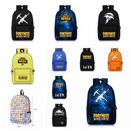 Wholesale art boys - 10 colors Fortnite Backpacks 28*14*47cm Fortnite Printed Big Kids Boys Girls Student Backpacks Fortnite Battle Royale Schoolbag MMA347 6pcs