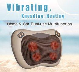 Deutschland JinKaiRui Vibrations Kneten Nackenmassagegerät Hammer Kissen Infrarot Shiatsu Elektrische Schulter Rückenmassage Massagen Auto / Home Versorgung