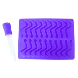 Wholesale silicone icing molds - Silicone Ice Cubes Tool Jelly Snake Worms Mold Maker Chocolate Candy Gummy Molds Dining Bar Kitchen Gadgets Accessories Supplies