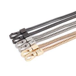 Cinture a tracolla a catena 120 / 100CM Cinturino a tracolla Cinturino in metallo dorato Cinghie di ricambio Cinturino fibbia rimovibile Cinturino da catene chiave all'ingrosso dell'automobile fornitori