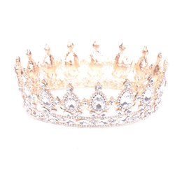 Wholesale Sequin Hair Flowers - Europe and the United States popular round crown wedding headdress wedding accessories bridal jewelry