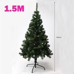 259564ca33c 1.5 metros de cifrado Árbol de Navidad con hojas verdes Trípode de hierro  Decoraciones de Navidad Adornos de año nuevo Árbol artificial de 150CM