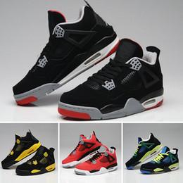 best website 2626b 741ea nike air Jordan 4 aj4 retro 4 Eminem Encore Pure Geld White Zement Royalty  Gezüchtet Toro Bravo Donnergrün Glow Schuhe 4 s Mens Basketball Turnschuhe