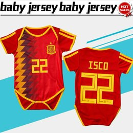 93fda5f23 Spain home red Baby soccer Jersey For 6 To 18 Month 2018 World Cup Baby  soccer Shirt  22 ISCO  20 ASENSIO  21 SILVA Baby Football uniforms