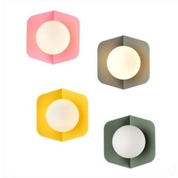 Morden Minimalista Nordic applique da parete a LED per esterni Lampade da parete per esterni Infissi Brief Corridor Portico Sconce Lighting Lamparas de Pared da piatti di vetro poco costosi all'ingrosso fornitori